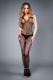 Грас. Сетка Mesh hip-hop bodystocking with openings black, S-L (40-46)
